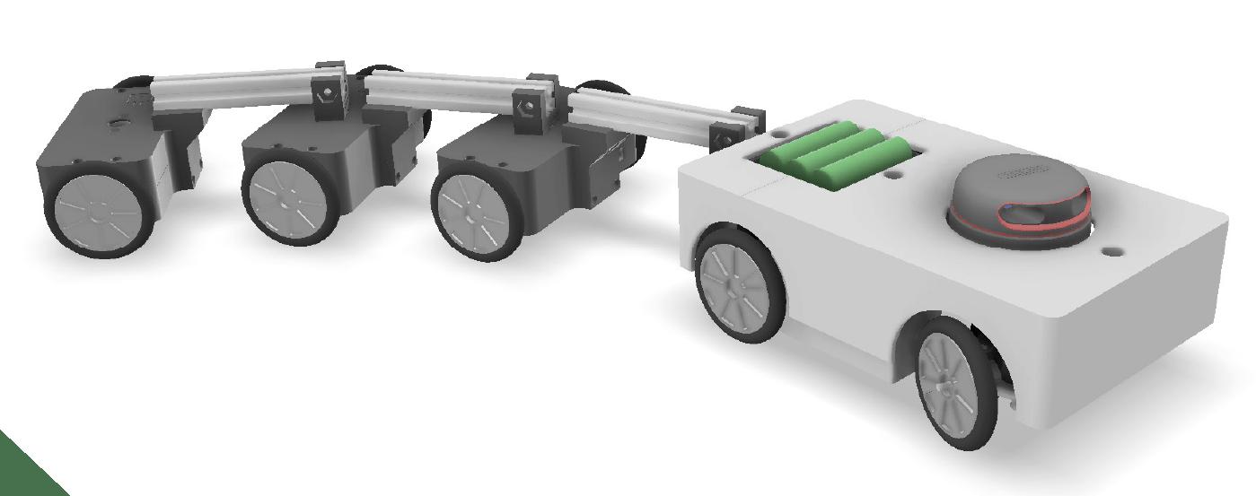 Autonomous Reversing T3T - virtuální model